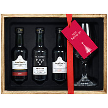 Buy Graham's Port Tasting Set, x3, With Tasting Glass Online at johnlewis.com