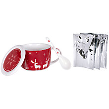 Buy Christmas Hot Chocolate Mug, With 3 Sachets of Hot Chocolate Mix Online at johnlewis.com
