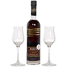 Buy Rubis Red Wine and 2 Wine Glasses Christmas Gift Set, 50cl Online at johnlewis.com