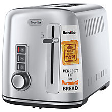 Buy Breville VTT570 Perfect Fit for Warburtons 2-Slice Toaster, Stainless Steel Online at johnlewis.com