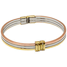 Buy Adele Marie Tri Colour Hinged Bangle, Multi Online at johnlewis.com