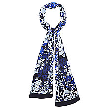Buy Viyella Abstract Floral Scarf, Navy Online at johnlewis.com