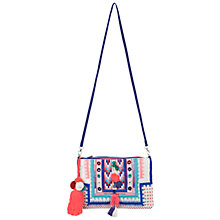 Buy Miss Selfridge Arrow Stitch Clutch Bag, White Multi Online at johnlewis.com