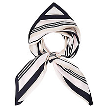 Buy Viyella Diagonal Stripe Scarf, Navy Online at johnlewis.com