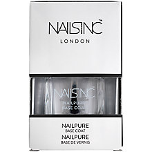 Buy Nails Inc Nailpure Base Coat, 14ml Online at johnlewis.com