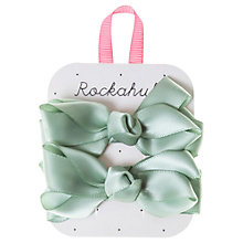 Buy Rockahula Satin Ruffle Bow Hair Clip, Pastel Green Online at johnlewis.com