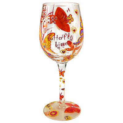 Lolita Butterfly Kisses Wine Glass