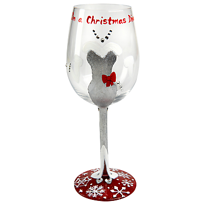 Lolita Christmas Diva Wine Glass