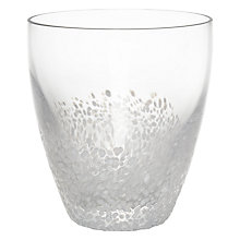 Buy John Lewis Christmas Speckled Glass Tumbler, White Online at johnlewis.com