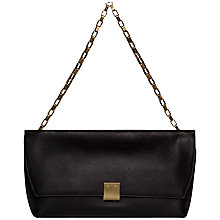 Buy Calvin Klein Kate Leather Clutch, Black Online at johnlewis.com