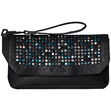 Buy Calvin Klein Claire Flap Clutch, Black Online at johnlewis.com