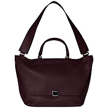 Buy Calvin Klein Kate Medium Leather Shoulder Bag, Claret Online at johnlewis.com