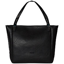 Buy Calvin Klein Claire Leather Tote, Black Online at johnlewis.com
