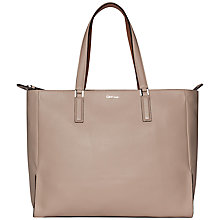 Buy Calvin Klein Kate Leather Tote, Natural Online at johnlewis.com