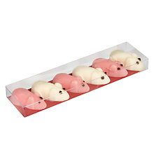 Buy Six Pink & White Fondant Mice Online at johnlewis.com