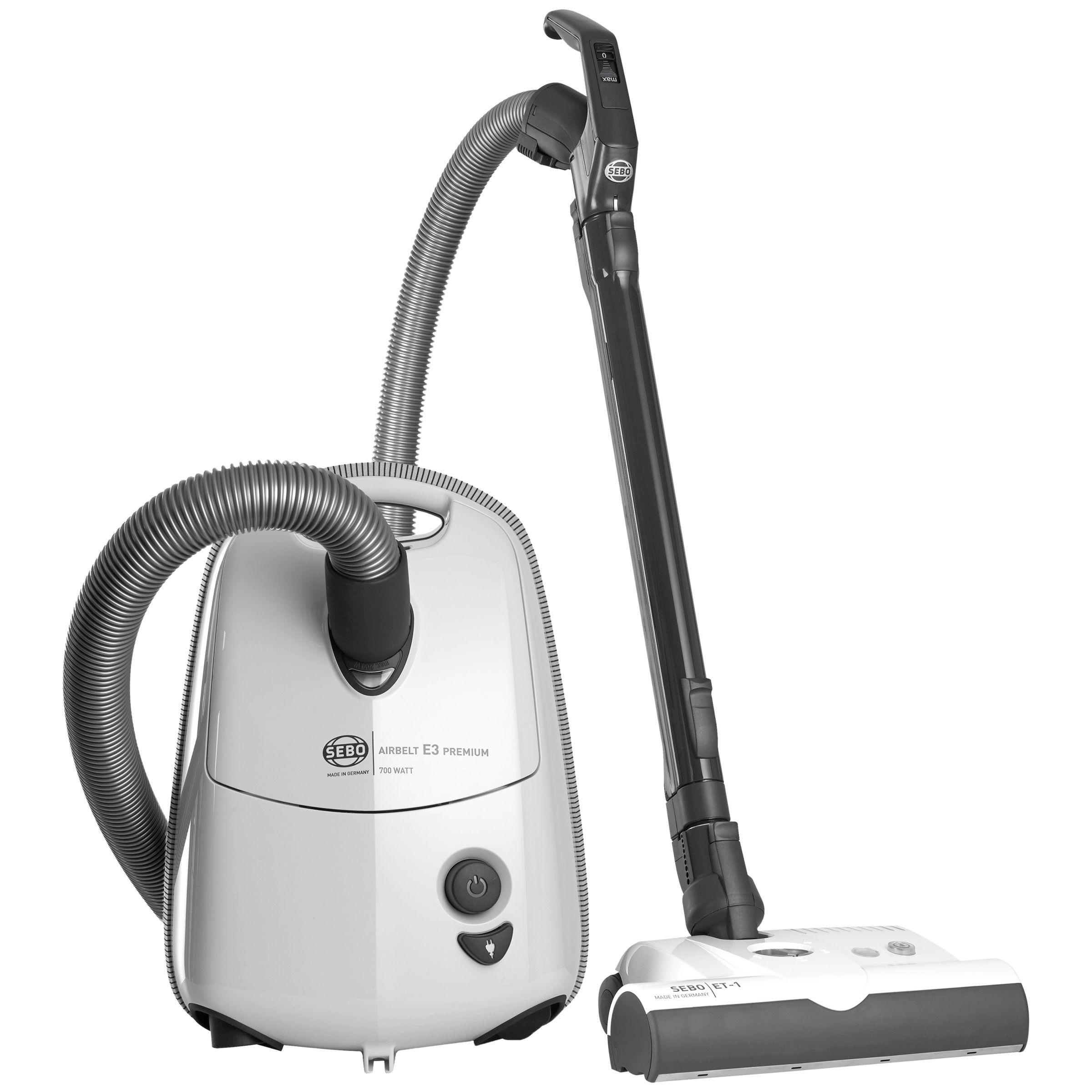 Sebo Sebo 91641GB Airbelt E3 Premium Cylinder Vacuum Cleaner, White