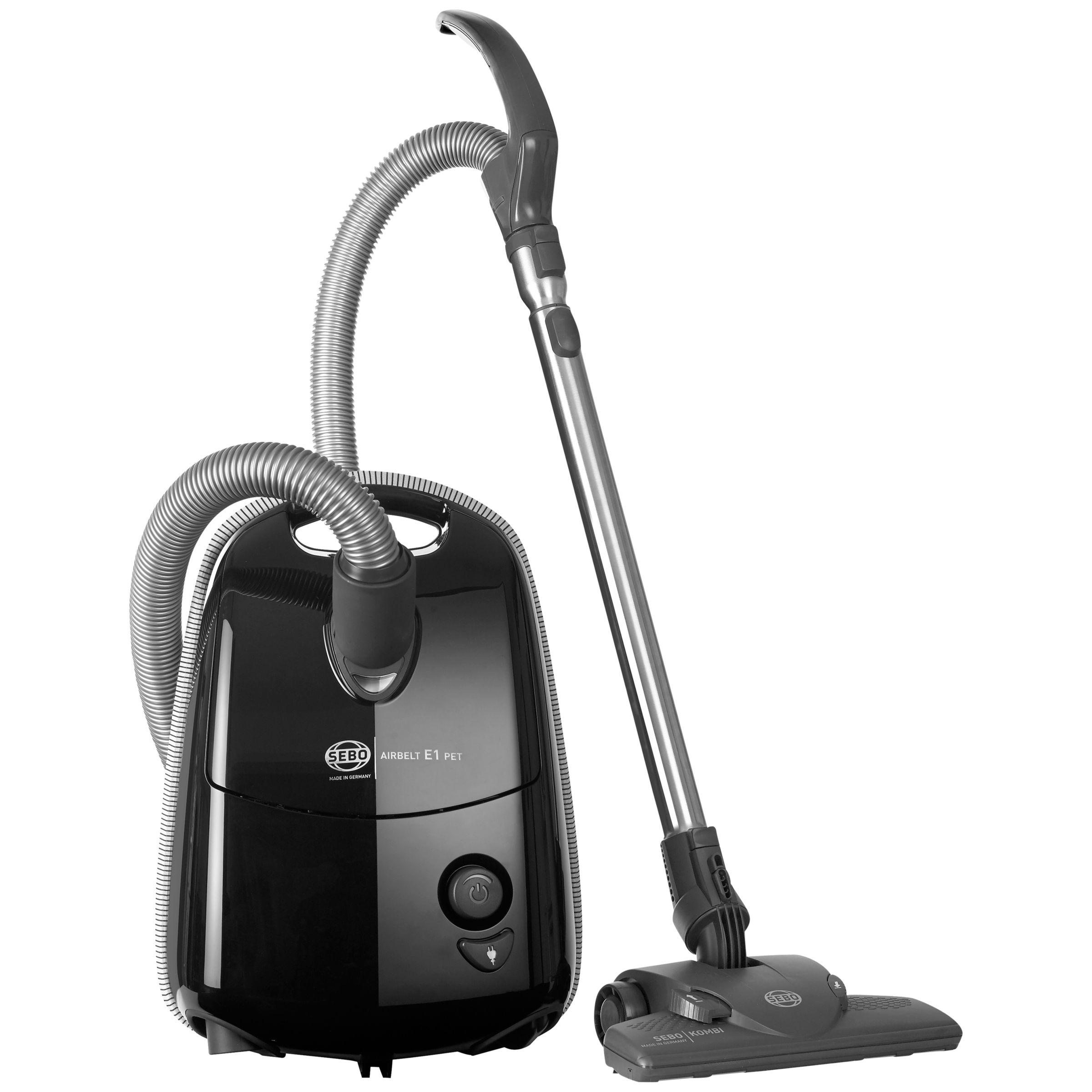 Sebo Sebo 91604GB Airbelt E1 Pet Cylinder Vacuum Cleaner, Onyx Black