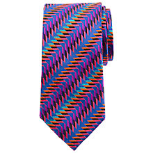 Buy John Lewis Zigzag Party Silk Tie, Multi Online at johnlewis.com