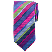 Buy John Lewis Stripe Silk Party Tie, Multi Online at johnlewis.com