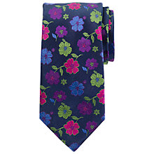 Buy John Lewis Bold Flower Print Tie, Multi Online at johnlewis.com