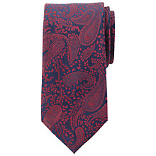 Buy John Lewis Navy Base Paisley Silk Tie Online at johnlewis.com
