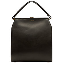 Buy Lulu Guinness Victoria Leather Medium Shoulder Bag, Black Online at johnlewis.com