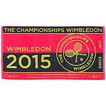 Buy Wimbledon Ladies Championship Towel Online at johnlewis.com
