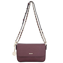 Buy DKNY Bryant Park Saffiano Small Across Body Chain Bag, Burgundy Online at johnlewis.com