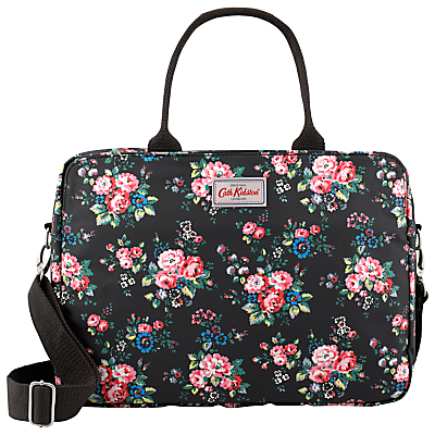 Cath Kidston Spray Flowers 13 Laptop Business Bag BlackPink