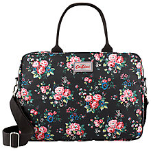 "Buy Cath Kidston Spray Flowers 13"" Laptop Business Bag, Black/Pink Online at johnlewis.com"