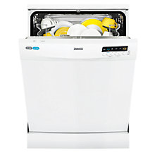 Buy Zanussi ZDF26001WA Freestanding Dishwasher, White Online at johnlewis.com
