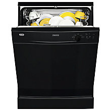 Buy Zanussi ZDF21001NA Freestanding Dishwasher, Black Online at johnlewis.com