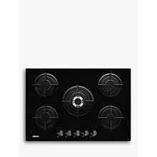 Buy Zanussi ZGO75524BA Gas Hob, Black Online at johnlewis.com