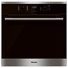 Buy Miele H2561BP Built-In Single Electric Oven, Clean Steel Online at johnlewis.com