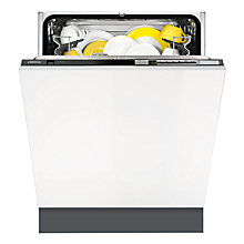 Buy Zanussi ZDT26010FA Built-in Dishwasher, Black Online at johnlewis.com