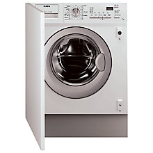 Buy AEG L61271WDBI Integrated Washer Dryer, 7kg Wash/4kg Dry Load, C Energy Rating, 1200rpm Spin Online at johnlewis.com