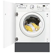 Buy Zanussi ZWI71201WA Integrated Washing Machine, 7kg Load, A++ Energy Rating, 1200rpm Spin, White Online at johnlewis.com