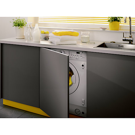 Buy zanussi zwi71201wa integrated washing machine 7kg for Kitchen cabinet washing machine