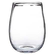 Buy John Lewis Croft Squashed Vase, Clear, 28cm Online at johnlewis.com