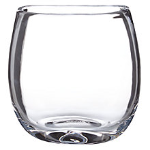 Buy John Lewis Croft Squashed Vase, Clear, 17cm Online at johnlewis.com