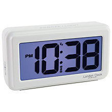 Buy LC Designs Large Alarm Clock, White Online at johnlewis.com