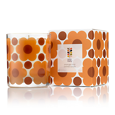 Orla Kiely Orange Rind Scented Candle, 200g