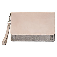 Buy Mint Velvet Becca Tab Clutch Bag, Mink Online at johnlewis.com