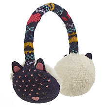 Buy John Lewis Novelty Cat Ear Muffs, Navy Online at johnlewis.com