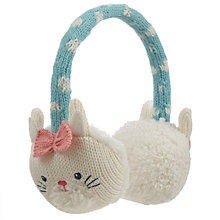 Buy John Lewis Novelty Rabbit Ear Muffs, White/Aqua Online at johnlewis.com