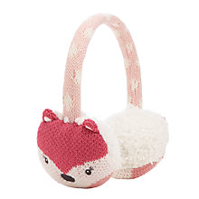 Buy John Lewis Novelty Fox Ear Muffs, Pink Online at johnlewis.com