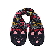 Buy John Lewis Novelty Cat Scarf, Navy Online at johnlewis.com