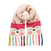 Buy John Lewis Novelty Fox Scarf, Pink/Multi Online at johnlewis.com