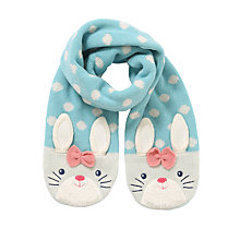 Buy John Lewis Novelty Rabbit Scarf, Aqua Online at johnlewis.com
