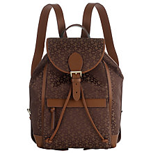 Buy DKNY Heritage Casual Logo Print Backpack, Nutmeg Online at johnlewis.com